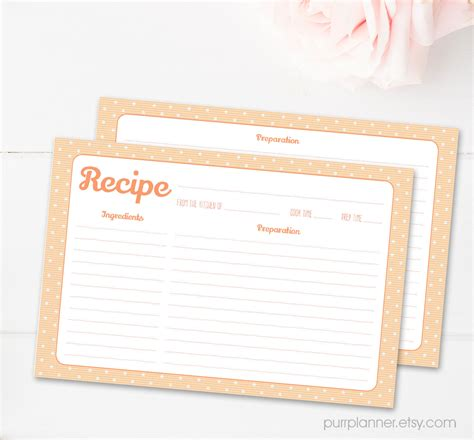 Sided 4 X 6 Recipe Card Template by 4x6 Pastel Printable Recipe Cards Sided By