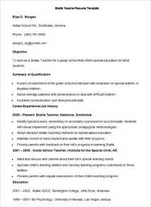 resume for teaching position template 51 resume templates free sle exle format