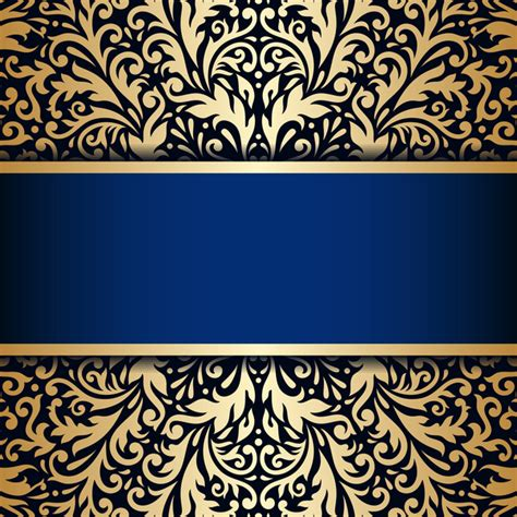 Kaos 3d Elengant Murah Go Logo Navy luxury blue background with ornament gold vector 11 vector business free
