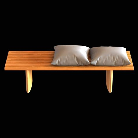 stone and wood bench wood bench with cushions and stone table 3d model max obj 3ds fbx cgtrader com
