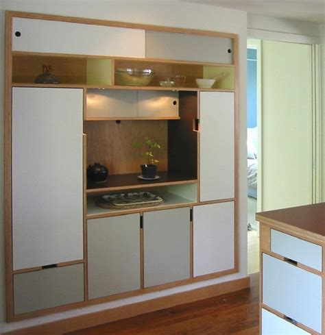 plywood kitchen cabinet asagi pantry modern kitchen seattle by kerf design