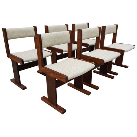 set of 6 rosewood danish modern dining chairs at 1stdibs set of six rosewood danish modern dining chairs by gangso