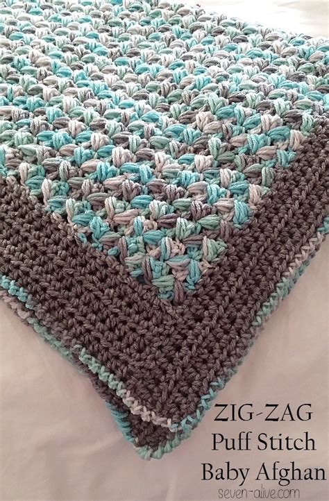 zig zag crochet pattern for baby blanket free pattern simple soft and puffy zig zag puff stitch
