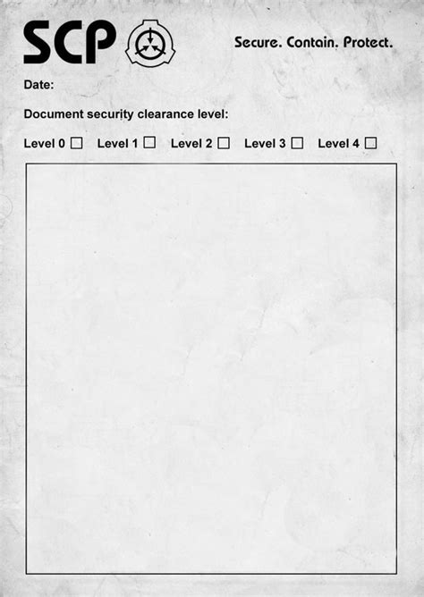 key card scp template scp document blank scp foundation your meme