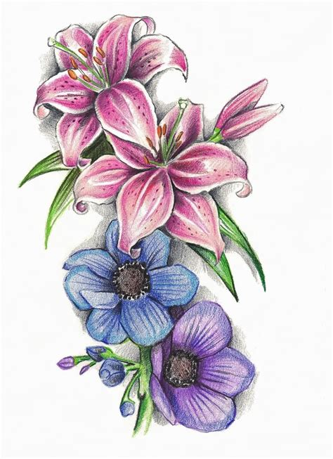 flower tattoo images images designs