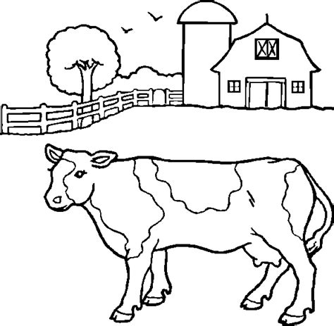 cow farm coloring page cow cute animals coloring pages realistic cow coloring page