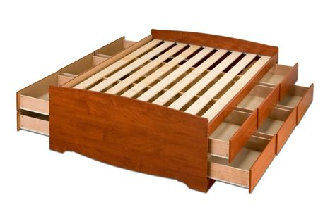 king platform bed with storage drawers king