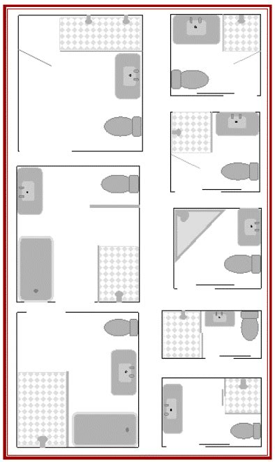 3 way bathroom floor plans here are 8 small bathroom plans to maximize your small