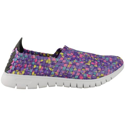 woven shoes womens new womens trainers woven elasticated stretch