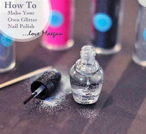 how to make your own glitter nail maegan