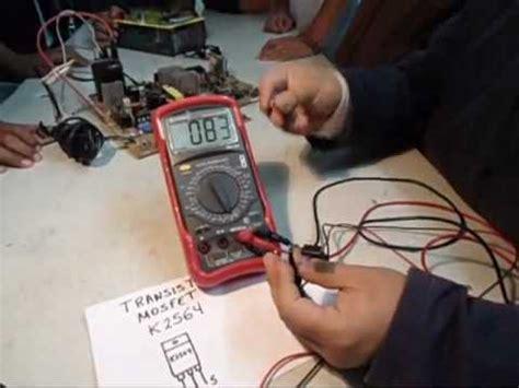 prueba del transistor mosfet youtube