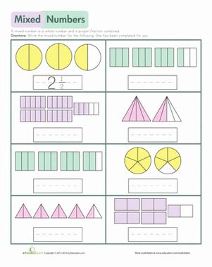 Mixed Numbers Worksheet by Mixed Numbers Worksheet Education