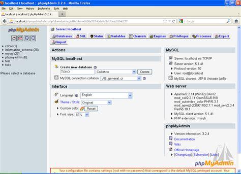 cara membuat database toko dengan xp my tech cara membuat database dengan mysql