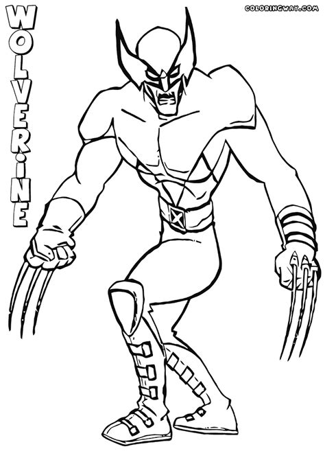 wolverine coloring pages coloring pages to download and