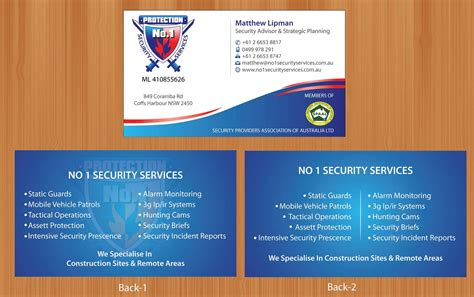Security Business Cards Designs