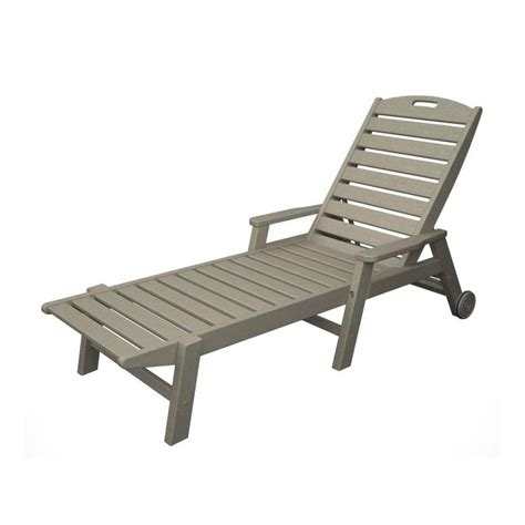 Plastic Chaise Lounge Chair by Shop Polywood Nautical Plastic Chaise Lounge Chair With