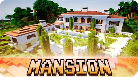 minecraft beautiful italian mansion house map w