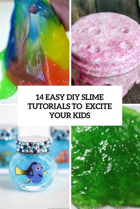 tutorial slime with borax 14 easy diy slime tutorials to excite your kids shelterness