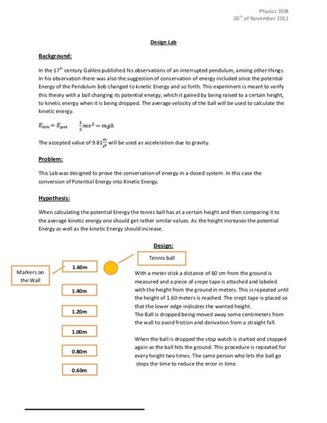 design lab rubric ib ib physics sl design lab