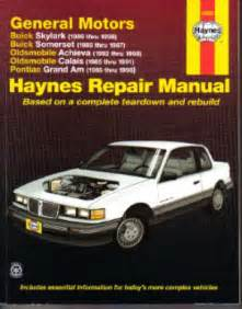 online auto repair manual 1985 pontiac grand am user handbook haynes gm buick skylark somerset oldsmobile achieva calais pontiac grand am 1985 1998 auto
