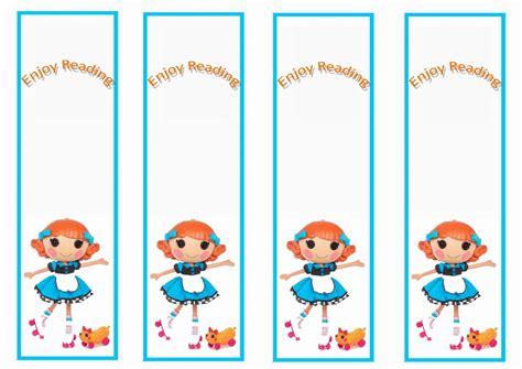 printable birthday bookmarks lalaloopsy bookmarks birthday printable