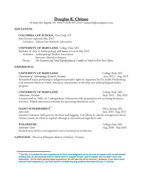 28 law student resume sle sles various law