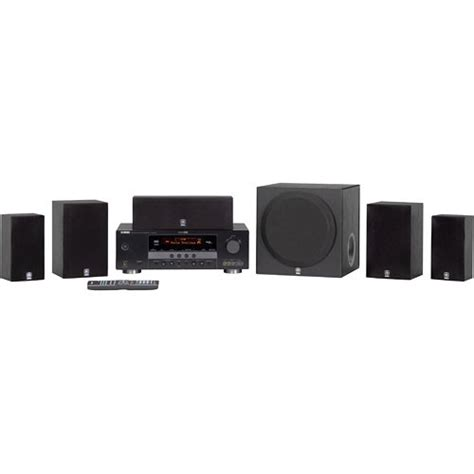 yamaha yht 390bl 5 1 channel home theater system yht 390bl b h