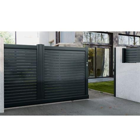 Portail Aluminium Battant 935 by Portail Maison Moderne Fabulous Portail Alu Bois With