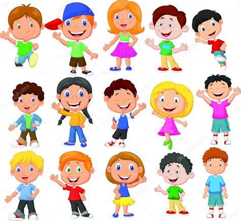 imagenes animadas de una niña colecci 243 n de dibujos animados los ni 241 os lindos vector de