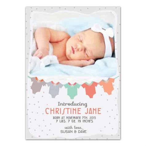 baby card template photoshop baby clothes newborn announcement card photoshop