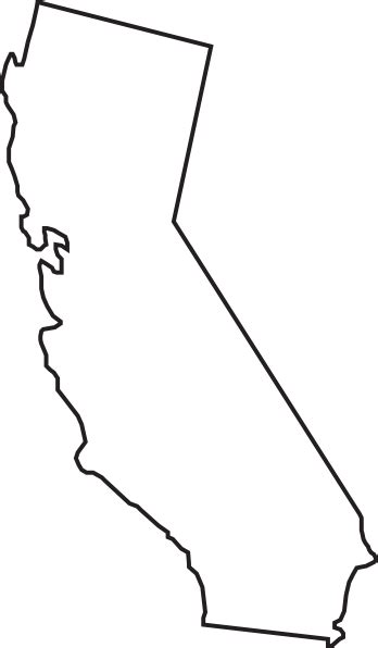 california outline tattoo california state outline 1 clip at clker vector