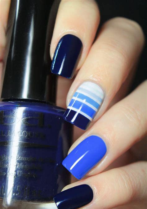imagenes de uñas decoradas solo con esmalte dise 241 os para decorar tus u 241 as con tonalidades de color azul