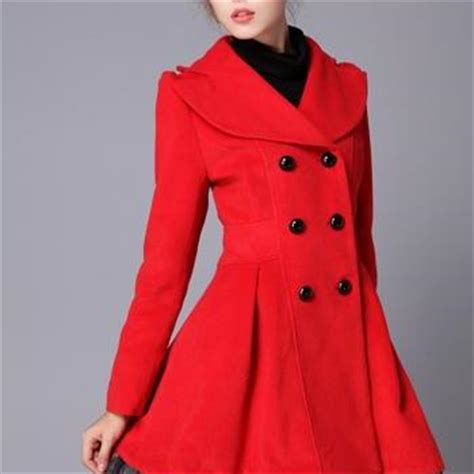 Coatjaket Azzura Pink Quality swing wool coat jacket pea coats princess outerwear winter top for wc071 1 on luulla