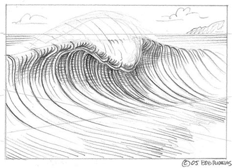 how to draw doodle waves wave drawing on drawings wave paintings