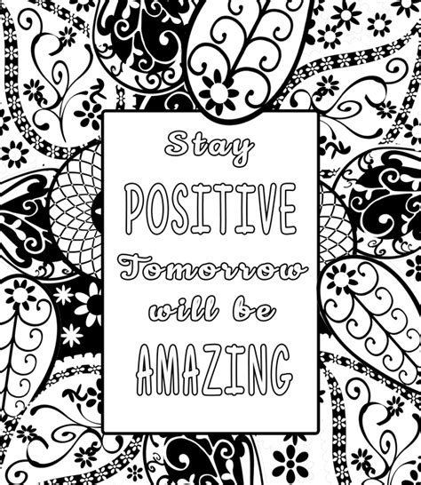 printable coloring pages inspirational free inspiring quotes coloring pages