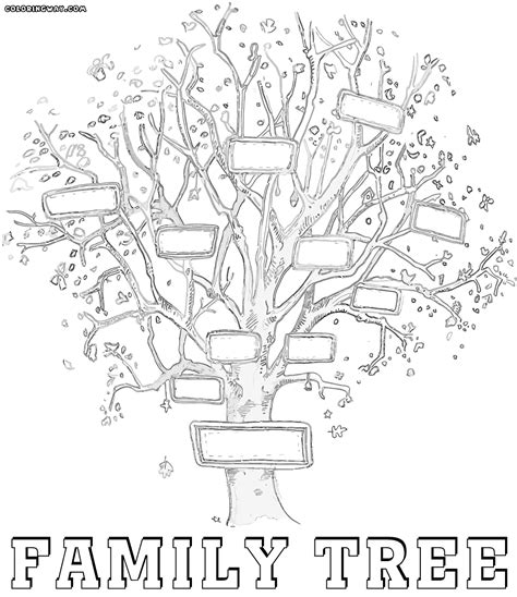 family tree coloring pages coloring pages to download