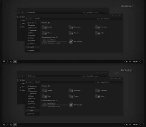 themes for windows 10 1703 after dark gray theme win10 insider rs2 1703 free