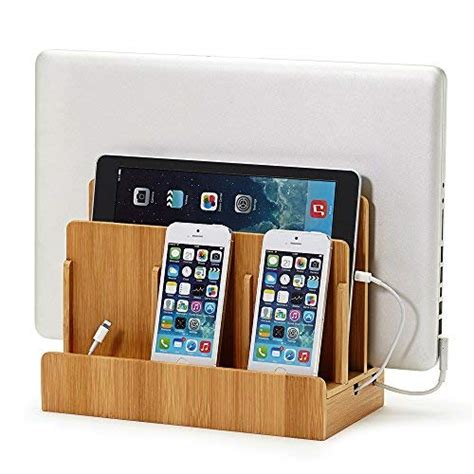 tablet charging station great useful stuff 194 174 wood multi device charging station