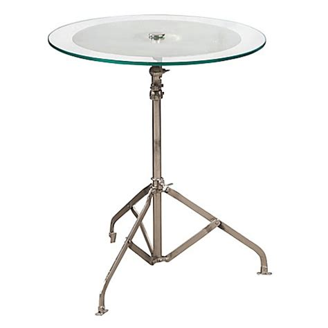 pulaski accent tables pulaski cymbal adjustable accent table in chrome bed