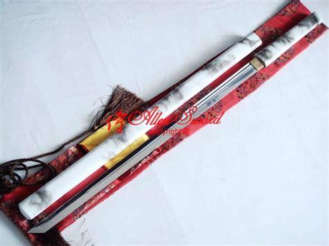 Handmade Battle Ready Swords - handmade 9260 steel blade battle ready white black