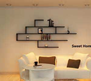 wall mounted decorative shelves creative separator grid backdrop decorative display wall