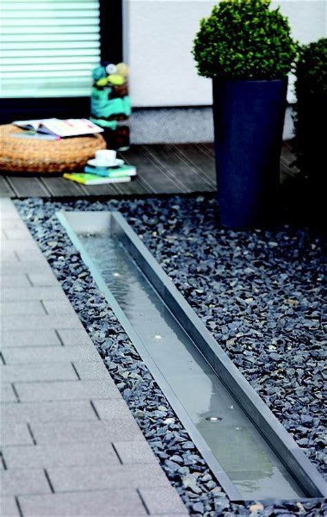 moderne wasserspiele 720 oase edelstahl bachlaufschale auslauf oase wasserspiele