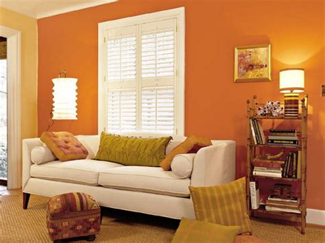 orange paint colors for living room paint color