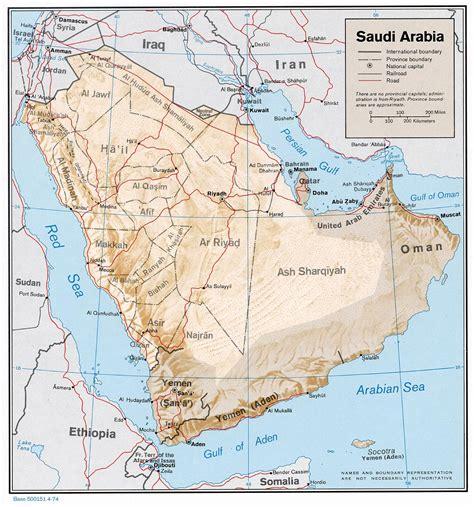 arabic map nationmaster maps of saudi arabia 13 in total