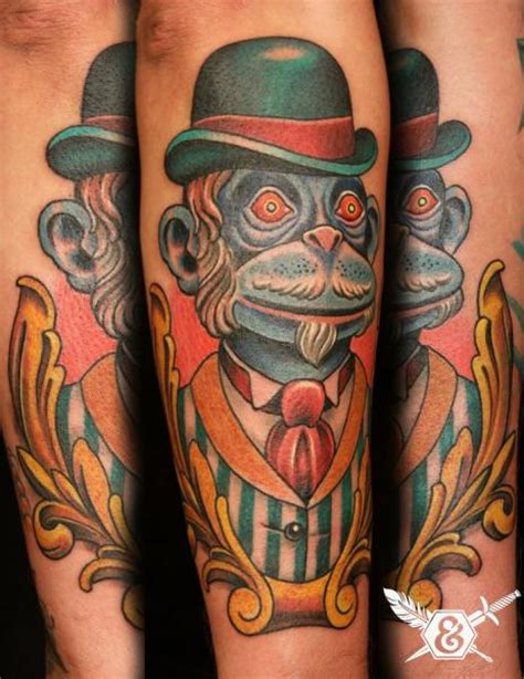 tattoo new school monkey arm new school monkey tattoo by ink and dagger tattoo