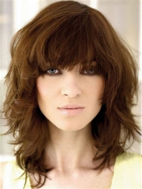 ladies choppy hairstyles with a fringe medium choppy hairstyles with bangs
