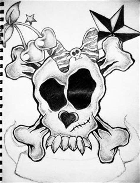 skull and star tattoo designs amazing of skull combination with
