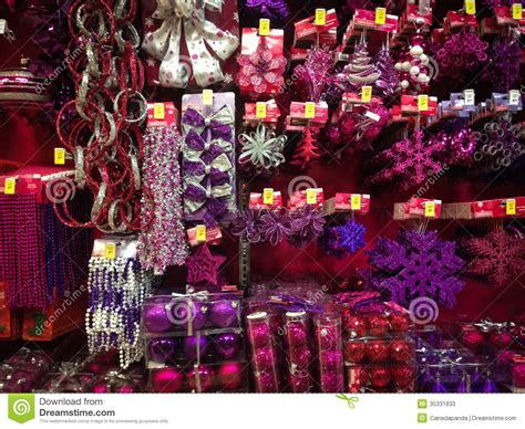 christmas ornaments for sale editorial stock photo image