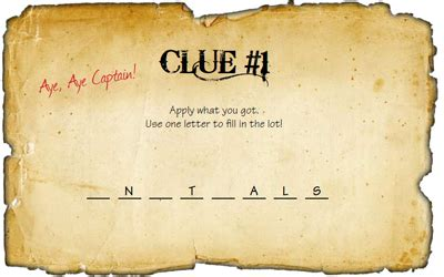 scavenger hunt clue cards template 8 best images of printable treasure maps with clues