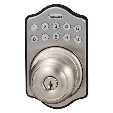 Lowes Keyless Door Locks by Kwikset Sfera Electronic Entry Door Knob Lowe S Canada